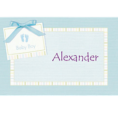 Baby Soft Blue Custom Baby Shower Thank You Note