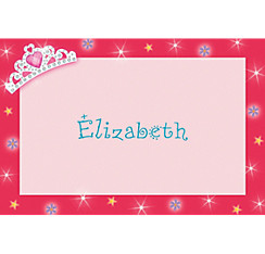 Princess 1st Birthday Custom Thank You Note