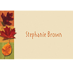 Autumn Hues Custom Thank You Note