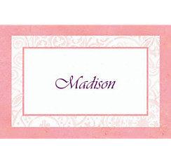 Radiant Cross Pink Custom Thank You Note