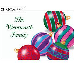 Posing Ornaments Custom Christmas Thank You Note