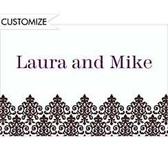 Custom Unbridled Filigree Black Thank You Notes