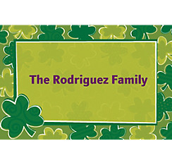 Playful Shamrocks Custom St. Patricks Day Thank You Note