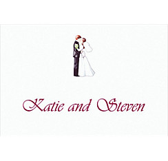 Custom Retro Wedding Couple Wedding Thank You Notes