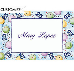 Party Balloons 25 Custom Thank You Note