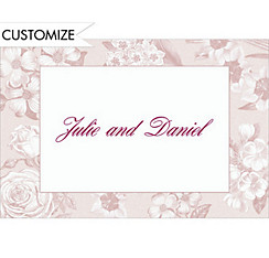 Soft Vintage Flowers Custom Thank You Note