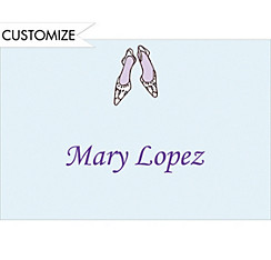 Bride Shoes Custom Wedding Thank You Note