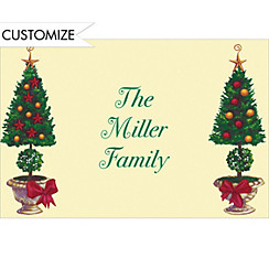 Christmas Topiary Custom Thank You Note