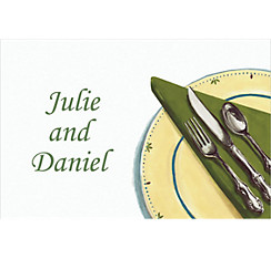 Place Setting Custom Thank You Note