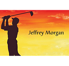 Sunrise Golfer Custom Thank You Note