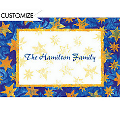 Blue Starry Border Custom Thank You Note