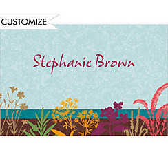 Floral Silhouettes Custom Thank You Note