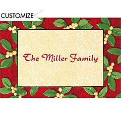 Handsome Mistletoe Custom Christmas Thank You Note