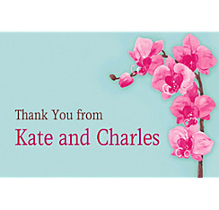 Elegant Orchids Custom Thank You Note