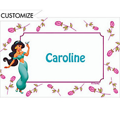 Jasmine with Stem Roses Custom Thank You Note