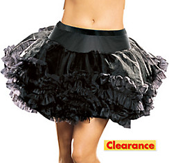 Adult Black Ruffled Petticoat