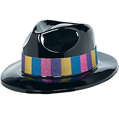 Party Gangster Hat 4 1/2in