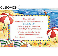 Day at the Beach Custom Invitation