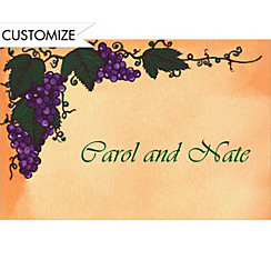 Grapevine Custom Thank You Note