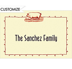 Pig Roast Border Custom Thank You Note