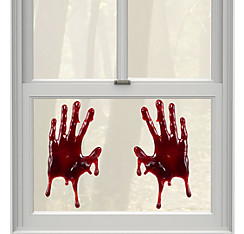 Bloody Hands Gel Cling Decals 2ct