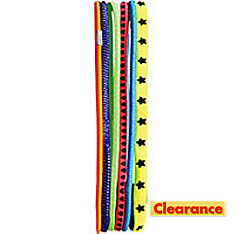 Bright Elastic Headbands 6ct