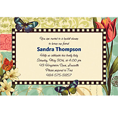Garden Melody Custom Invitation
