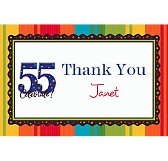 A Year to Celebrate 55 Custom Thank You Note