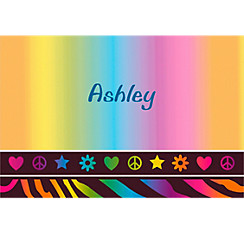 Neon Birthday Girl Custom Thank You Note