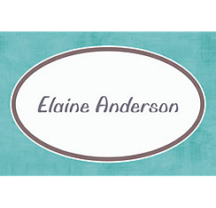 Turquoise Border Custom Thank You Note
