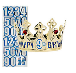 Child Personalized Gold Happy Birthday Crown Kit