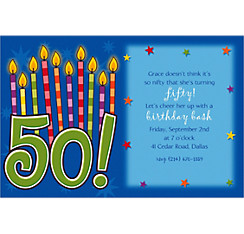 Great Birthday 50 Custom Invitation