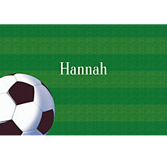 Soccer Fan Custom Thank You Note