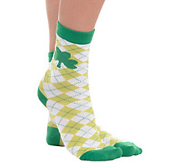 St. Patrick's Day Green Argyle Crew Socks