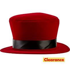 Red Velvet Top Hat