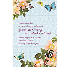 Custom Butterfly Dreams Wedding Invitations