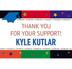Bright Grad Custom Thank You Notes