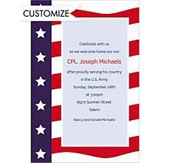 Custom All American Welcome Home Invitations