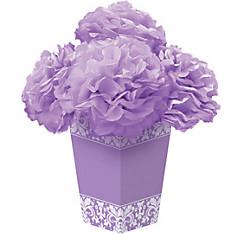 Lilac Fluffy Flower Centerpiece Kit 6pc