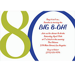 Great Big 80th Custom Invitation