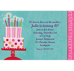 Sweet Stuff Birthday Custom Invitation