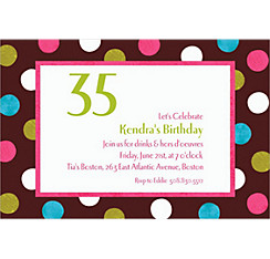 Chocolate & Dots Polka Dot Custom Invitation