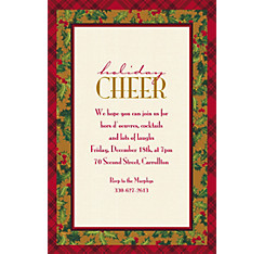 Winter Warmth Custom Christmas Invitation
