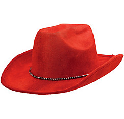 Red Suede Cowboy Hat