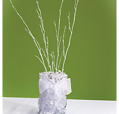 White Glitter Twigs 24in 4ct