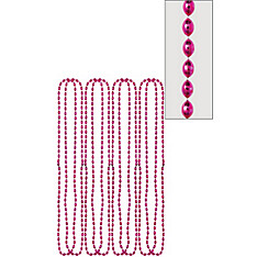 Pink Bead Necklaces 32in 8ct