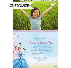 Cinderella Fantasy Custom Photo Invitation
