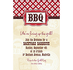 It's BBQ Time Custom Invitation