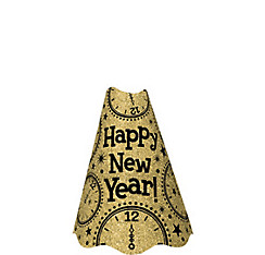 Glitter Gold New Year's Cone Hat