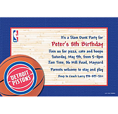 Detroit Pistons Custom Invitation